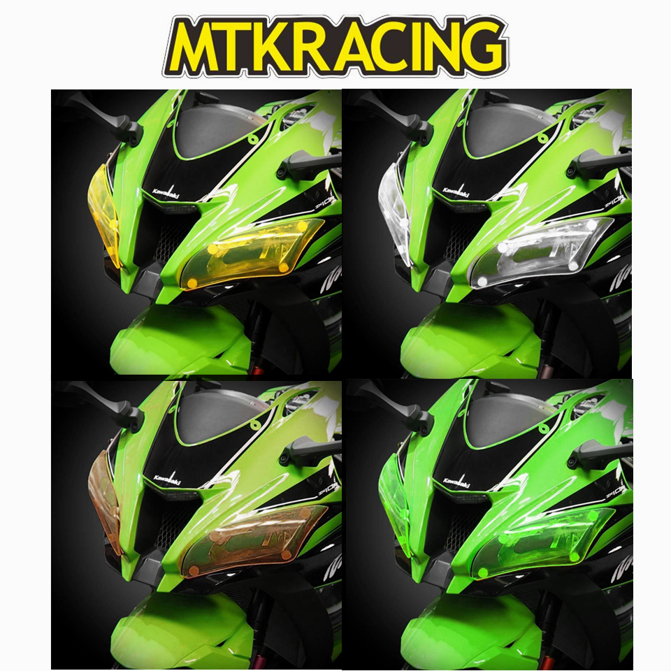 MTKRACING FOR KAWASAKI ZX 10R ZX10R ZX 10 R ZX 10R 2016 2017 motorcycle Headlight Protector Cover Shield Screen Lens in Covers Ornamental Mouldings from Automobiles Motorcycles