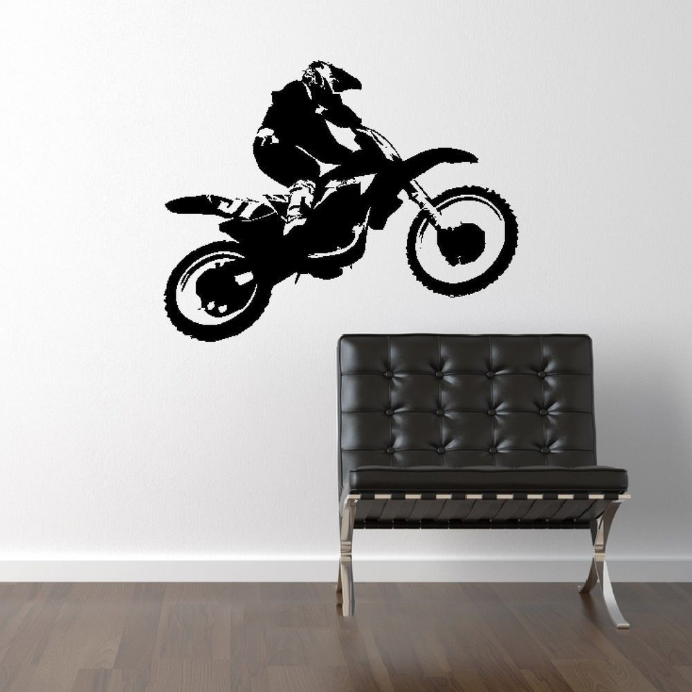Scrambler Motorcycle Dirt Bike Wall Art Car Decal Sticker Diy Home Decoration Removable Wall Decoration Bedroom
