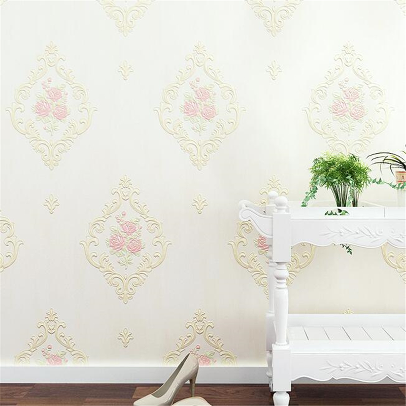 beibehang New high-end Papel de parede Rural wallpaper TV background wall 3D non-woven wallpaper living room bedroom wall paper beibehang non woven pink love printed wallpaper roll striped design wall paper for kid room girls minimalist home decoration