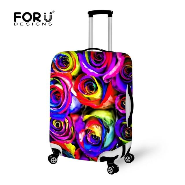 FORUDESIGNS Rose Print Travel Luggage Suitcase Protective Covers Luggage Case Protective Dust Cover Equipment Accessories