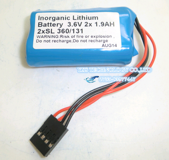 ФОТО HOT NEW 17 battery 2xSL360/131 3.6 V Take the plug SL360/131 SL360