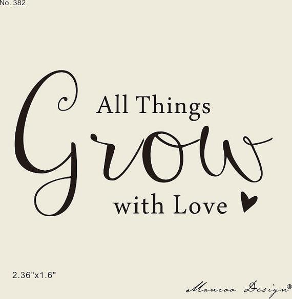 Download Calligraphy custom Let Love Grow e Stamp Wedding Favor ...