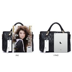 Image 5 - Soperwillton bolsos mujer de marca famosa 2019 las mujeres Bolsos Bolso de la manija mujer famosa marca bolsas de mensajero para mujeres, bolso de cuero de la PU bolsa de material compuesto #150
