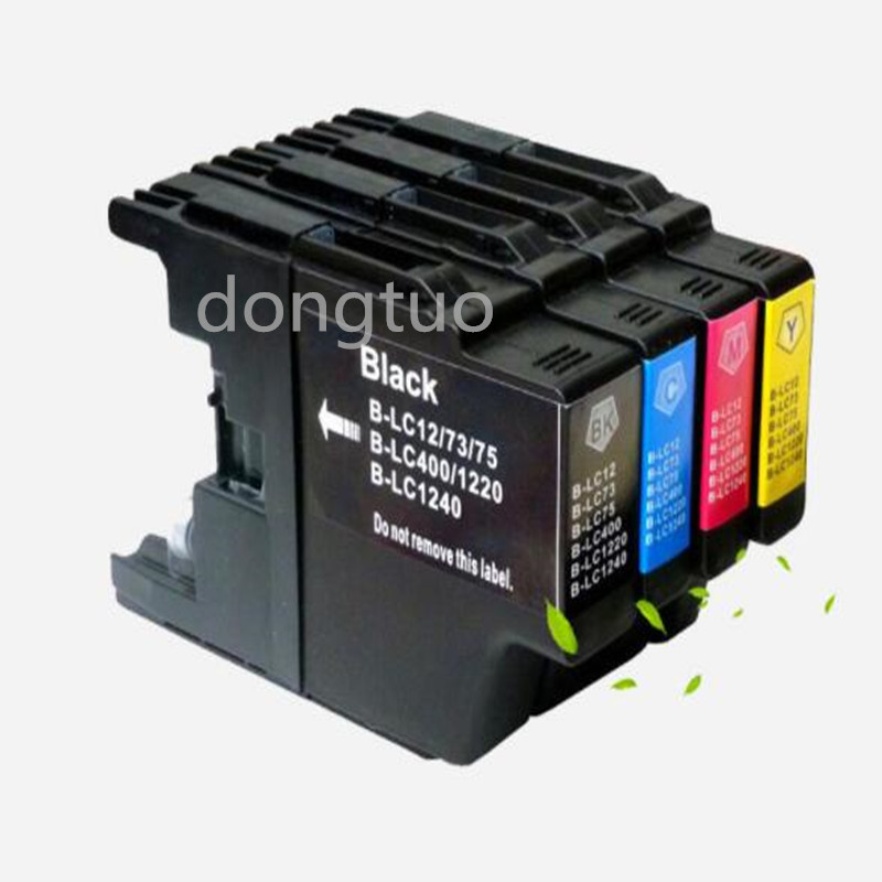 4x Refillable For LC1280 LC-1280 Compatible Ink Cartridges For MFC J5910DW J6710DW J6910DW J825DW J625DW J430W Printer LC1280XL