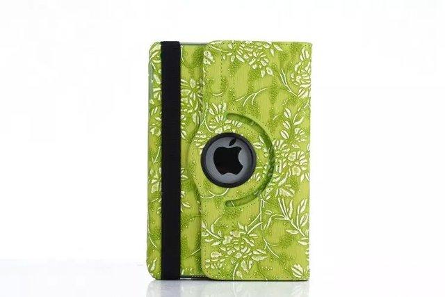 Design 360 Rotating Series Heat Emission Holes Grape Pattern PU Leather case for ipad mini 4 Luxury Smart Cover Stand Flip +film
