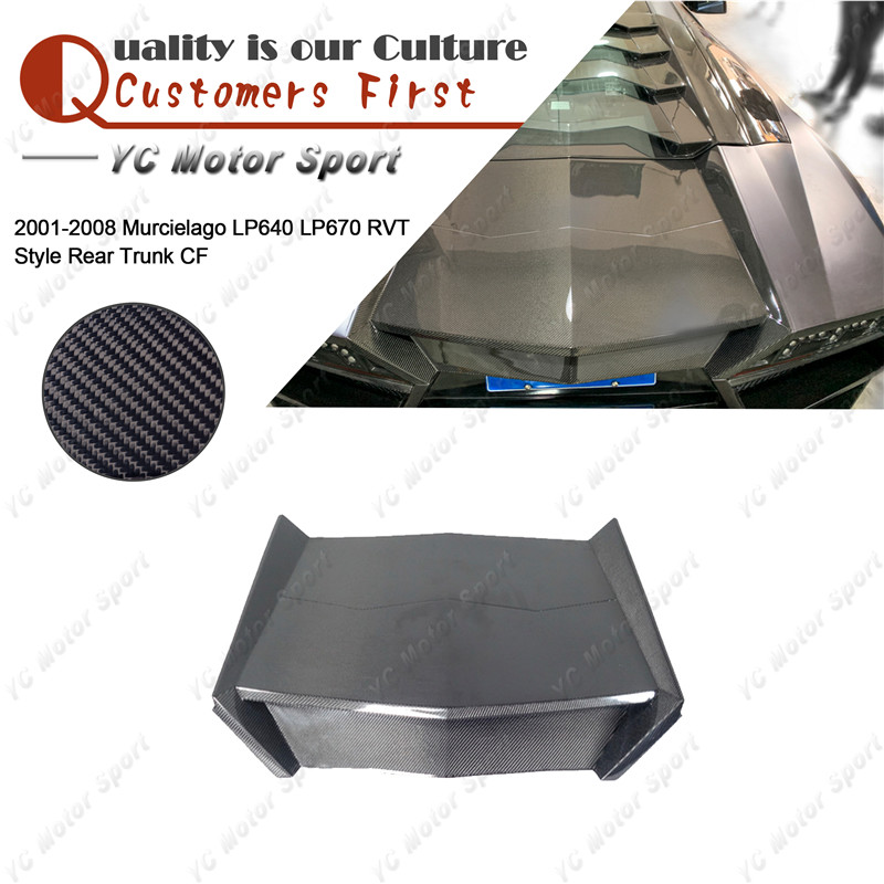 Car Accessories Carbon Fiber RVT Style Rear Trunk Fit For 2001-2008 Murcielago LP640 LP670 Rear Trunk Boot Lid Cover