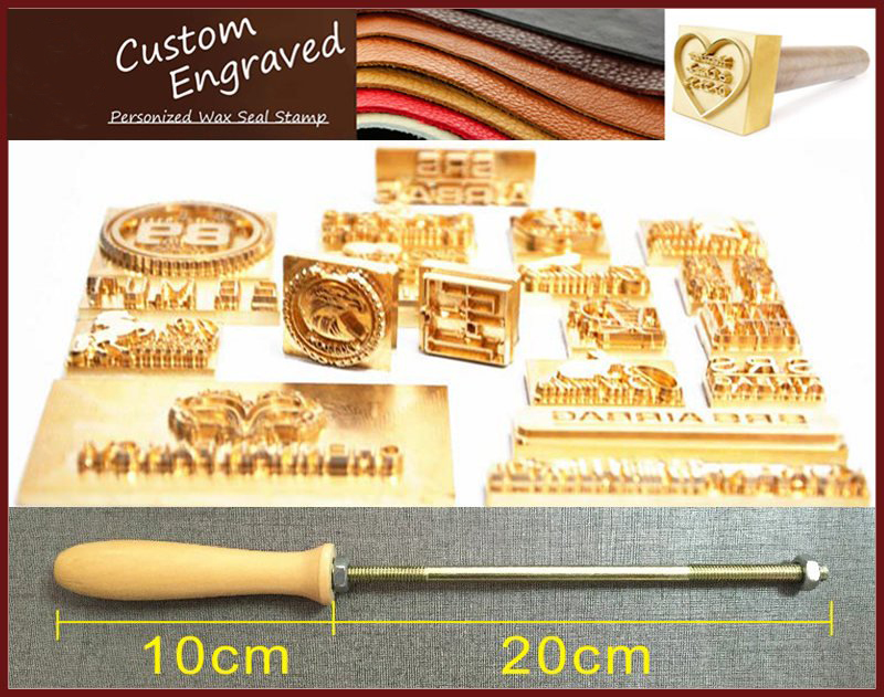 1cm 10cm Customized Logo Branding Iron Brass Leather Stamp Wood Embossing Stamp Hot Foil Stamp Food Stamp Leather Seal Stamp Stamps Aliexpress