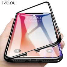 Flip Magnetic Glass Cases for iphone XS Max XR Case Adsorption Tempered Phone For 6s 7 8 Plus Shell