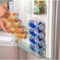 Útil Geladeira Caixa De Armazenamento de Acessórios de Cozinha Latas de Bebida Pode Space-saving Acabamento Quatro Caso Organizador