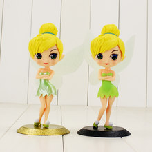 Q posket tinkerbell figuras princesa tinkerbell fada ouro preto base beleza modelo brinquedos