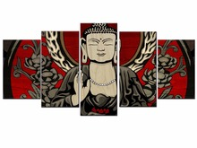 Hot Sales Framed 5 Panels Picture Buddha series HD Canvas Print Painting Artwork Wall Art painting Wholesale/11Y-ZT-9