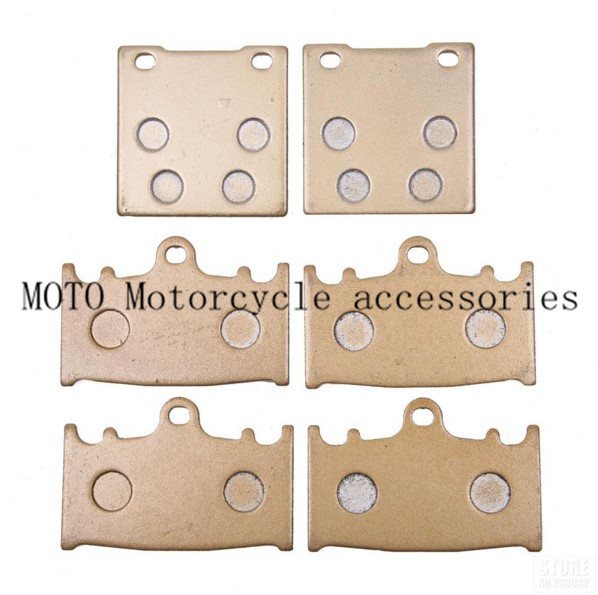Front and rear brake pads 1 set Motorcycle Brake Pads For SUZUKI GSXR600 1997-2002 2003 GSXR750 00-03 TL 1000 S 97 98 99 00 2001 1 set motorcycle front