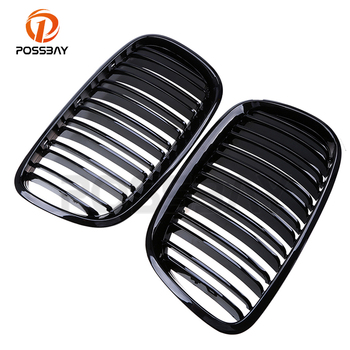 -24% OFF For BMW E70 E71 E72 X5 X6 2006-2014 High Quality Gloss Shiny Black Front Kidney Grilles Grills Car Cover grille