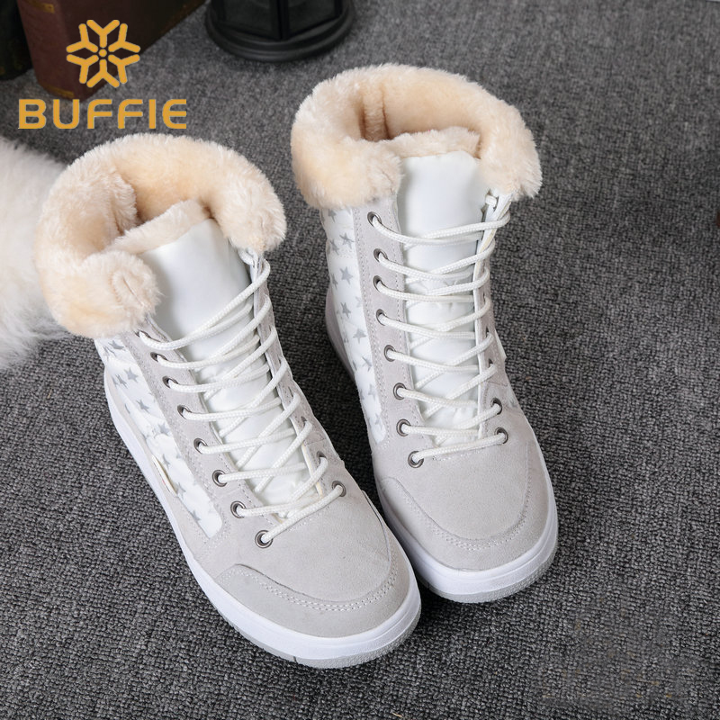 Women and children winter shoes ankle winter warm print boots 2017 new fashion snow boots fur lining short shoes free shipping
