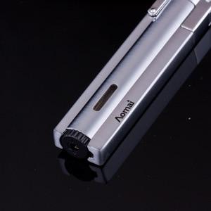 Image 5 - Compact Jet Lighter Gas Torch Turbo Flint Lighter Strip Windproof Metal Cigar Lighter 1300 C Butane Lighter Gadgets For Man