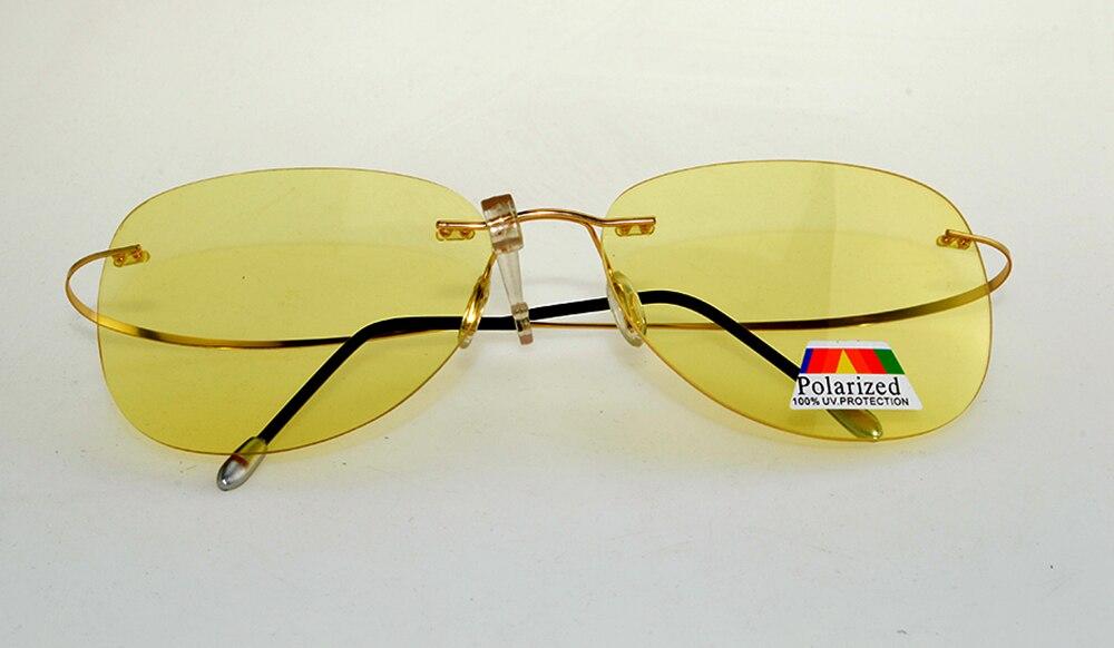Клара vida 2018 ночного видения antiglare Дальний свет блок без оправы titanium поляризованные солнцезащитные очки для мужчин для женщин