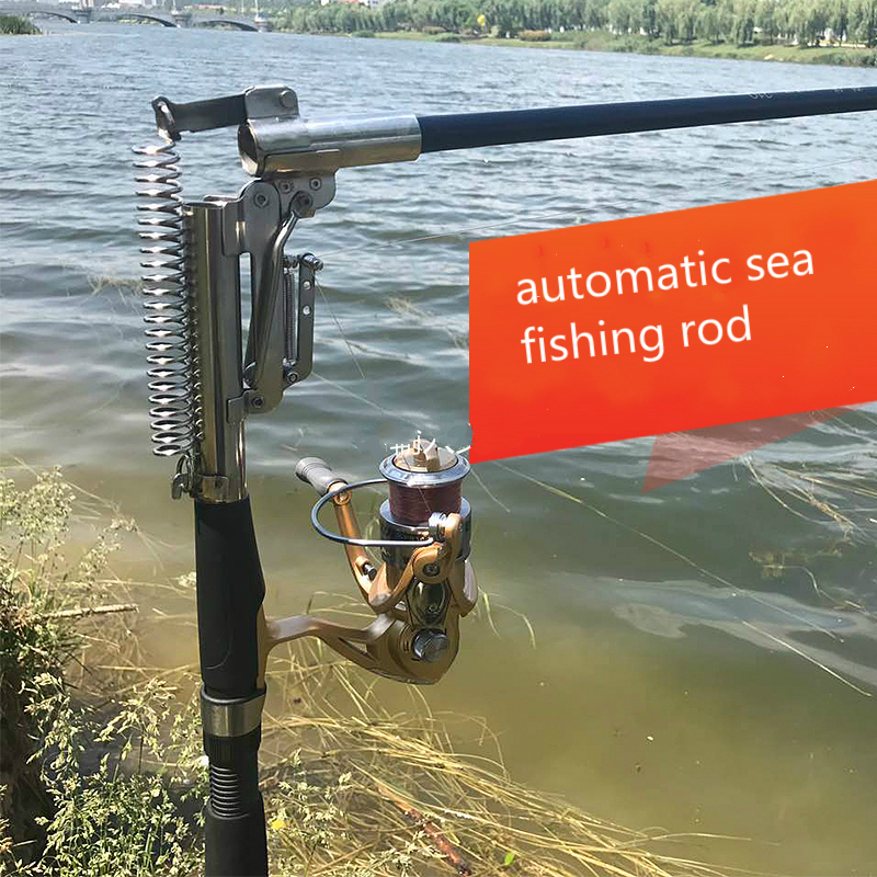 Three degress automatic fishing rod without reel ideal for Automatic fishing pole