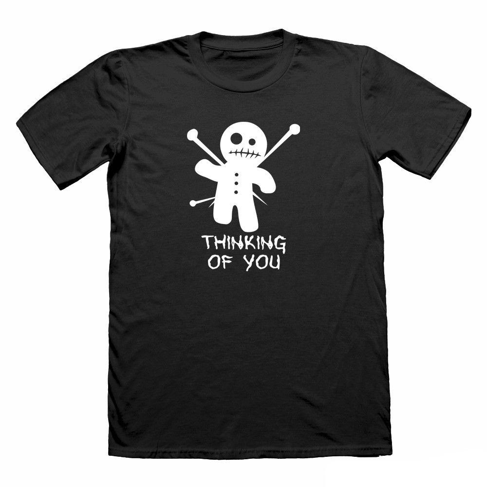 Thinking Of You Funny T Shirt Voodoo Doll Joke Nerd T Shirt Geek T Shirt For Men