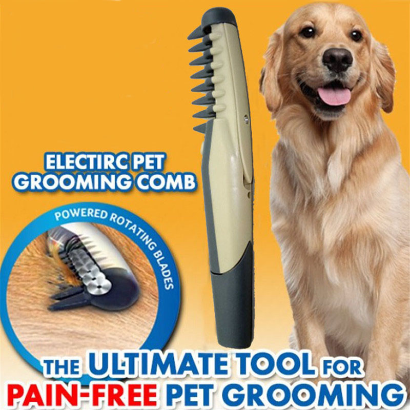 Electric Pet Combs Dog Hair Remover Cat Grooming Tools Knot Out