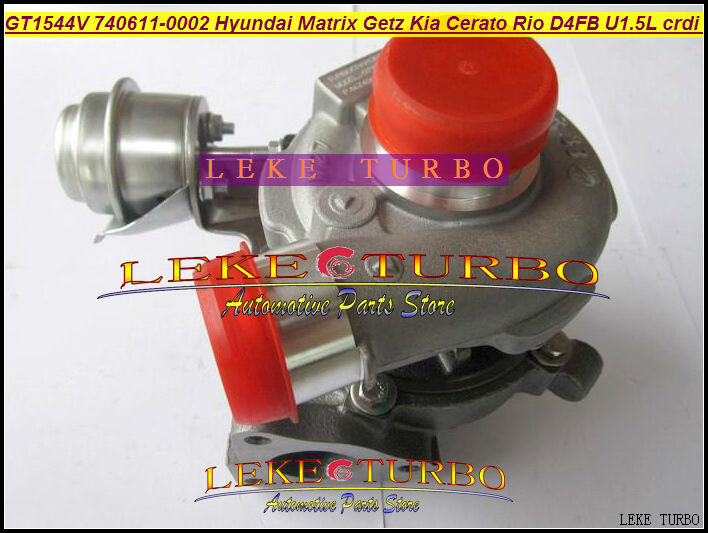 GT1544V 740611 740611-5003S 740611-0003 782403-5001S 28201-2A400 Turbo For HYUNDAI Matrix Getz Cerato Rio Pdride D4FB 1.5L CRDI gt2556s 711736 711736 0003 711736 0010 711736 0016 711736 0026 2674a226 2674a227 turbo for perkin massey 5455 4 4l 420d it