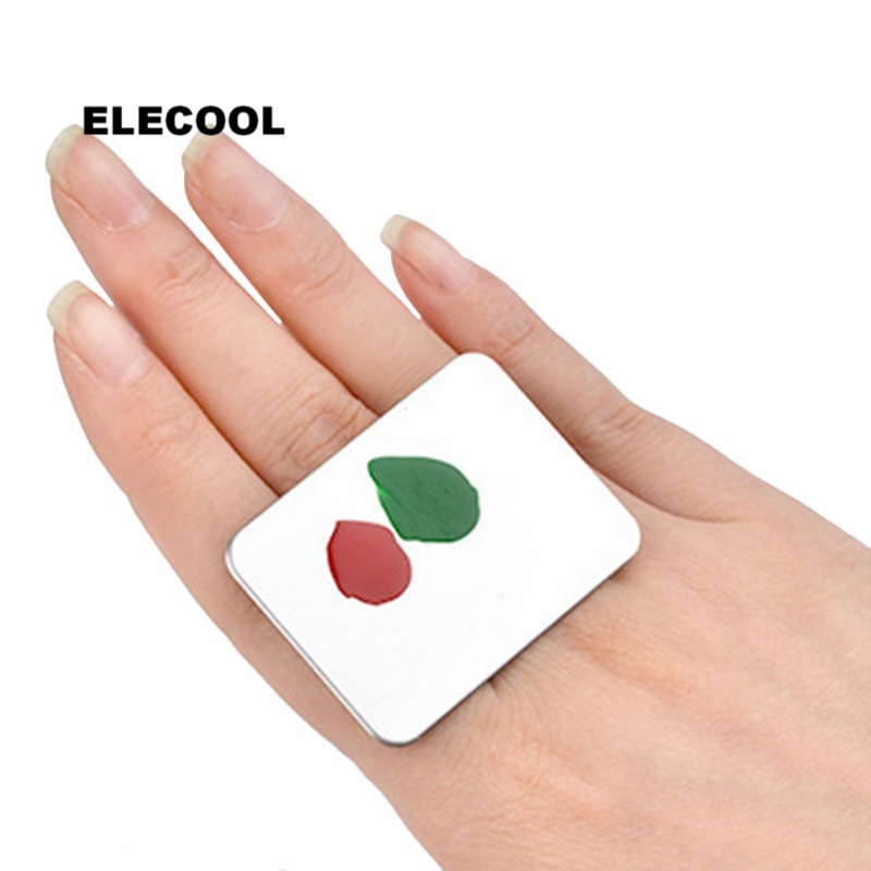 ELECOOL Professional Stainless Steel Cosmetic Makeup Palette Ring Rectangle Foundation Nail Polish Mixing Make Up Tool