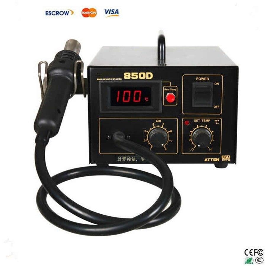Haute qualité aliexpress en gros avancé numérique station de soudage ESD air chaud station de soudage pistolet à air chaud