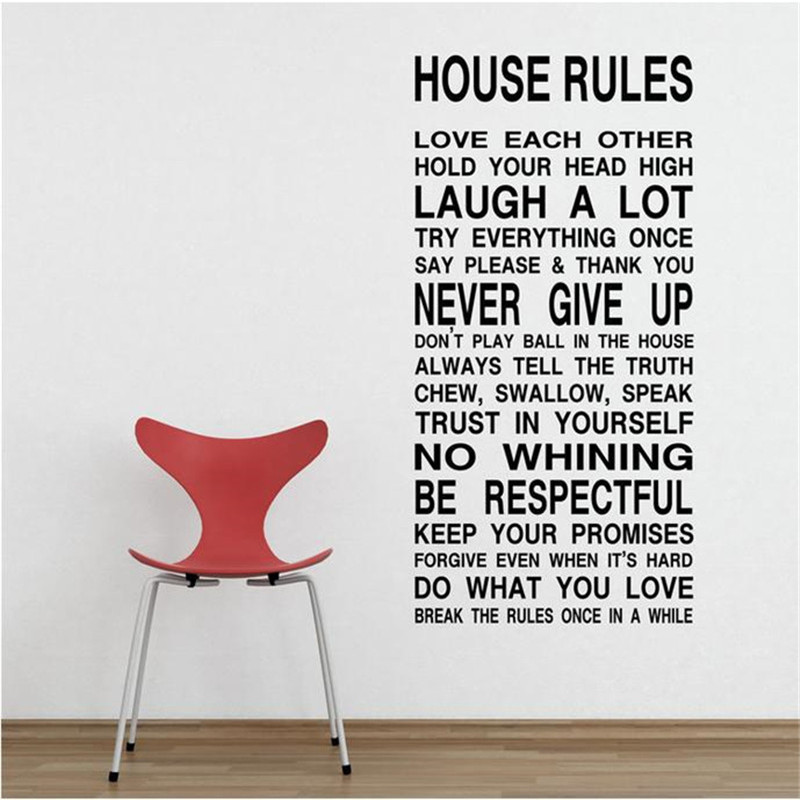 Popular House Rules Wall StickerBuy Cheap House Rules Wall - House rules wall decals