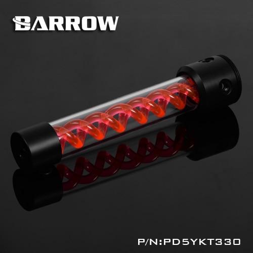 купить Barrow PD5YKT330 D5 VIRUS T cylinder water reservoir water tank computer water cooling UV Lighting included по цене 3671.87 рублей