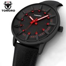 Tomoro 2017 nuevo diseño original de la marca de lujo de moda del deporte del cuarzo reloj de los hombres casual calfski tm4019rd de pulsera correa de cuero