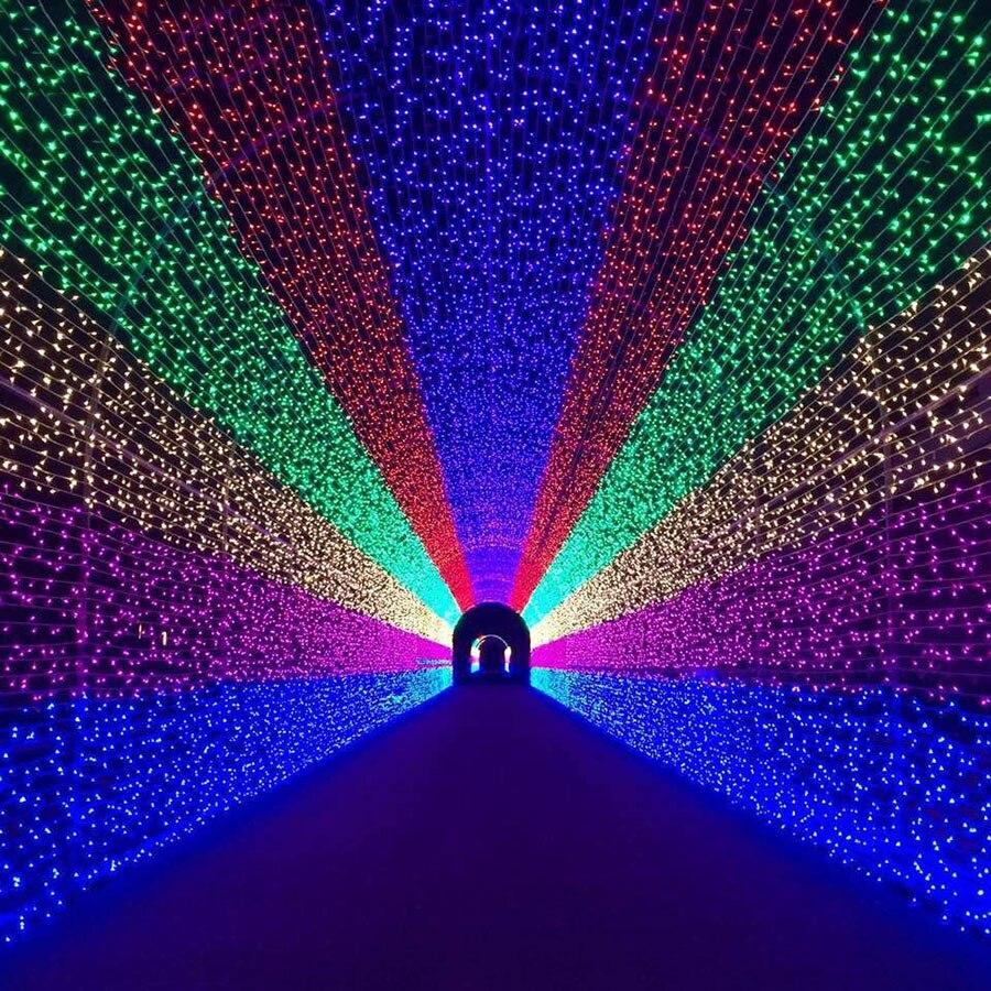 BEIAIDI, 8 режимов, 8 м X 10 м, 2600 светодиодный сетчатый струнный светильник, гирлянда, открытый Рождественский занавес, сосулька, Сказочная гирлянда, праздничный, Свадебный светильник