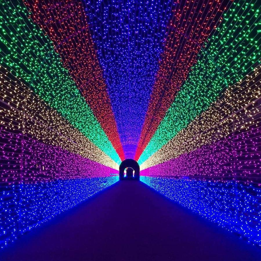 BEIAIDI 8 Modalità 8 M X 10 M 2600 LED Net Luce Della Stringa Ghirlanda Di Natale All'aperto Tenda ghiacciolo Stringa Leggiadramente festa di Nozze Luce