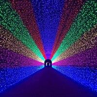 Beiaidi 8 режим 8 м X 10 м 2600 светодио дный чистый свет шнура гирлянда открытый Рождество Шторы сосулька Фея Строка праздник свадьба свет