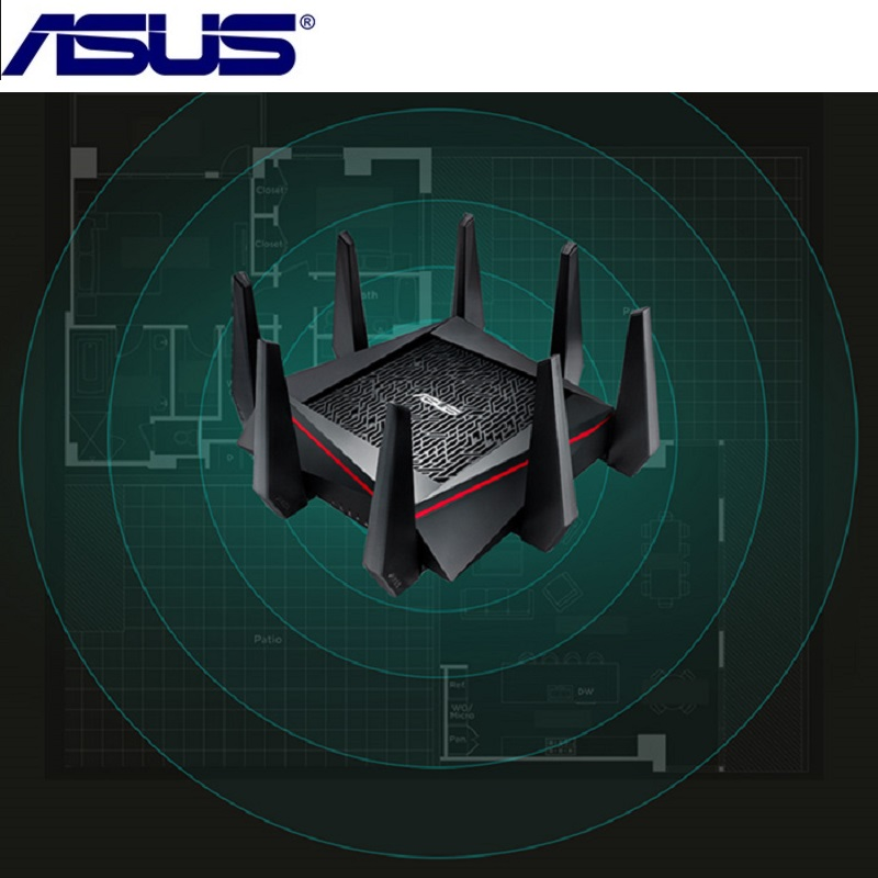 Original ASUS RT-AC5300 5334Mbps Wireless Router AC5300 2.4GHz/5GHz Tri-Band MU-MIMO Gigabit Wifi Repeater Router US Plug wall hanging art decor sky forest print tapestry