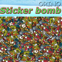 High Quality Frightening Hot Euro style Stickerbomb Vinyl Wrap With Air Bubble Free For Car Wrapping Decals Sticker Bomb