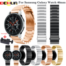 22mm Watch Strap 316L Stainless Steel For Samsung Galaxy Watch 46mm Watchband For Samsung Gear S3 Classic Frontier Watch band new stainless steel watch band wrist strap 22mm for samsung galaxy watch 46mm smart accessories for samsung gear s3 frontier