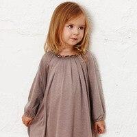 Autumn Child Girl Flower Collar Princess Dress Fashion Prom Party Kids Cotton Dresses For Children Lady