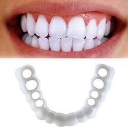 1 комплект УЛЫБКА протез Fit Flex косметические зубы удобный шпон крышка отбеливание зубов оснастка на улыбке зубы косметические протезы