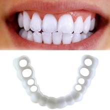 1 Set Smile Denture Cosmetic Teeth Comfortable Veneer Cover Teeth Whitening Snap On Smile Teeth Cosmetic Denture(China)