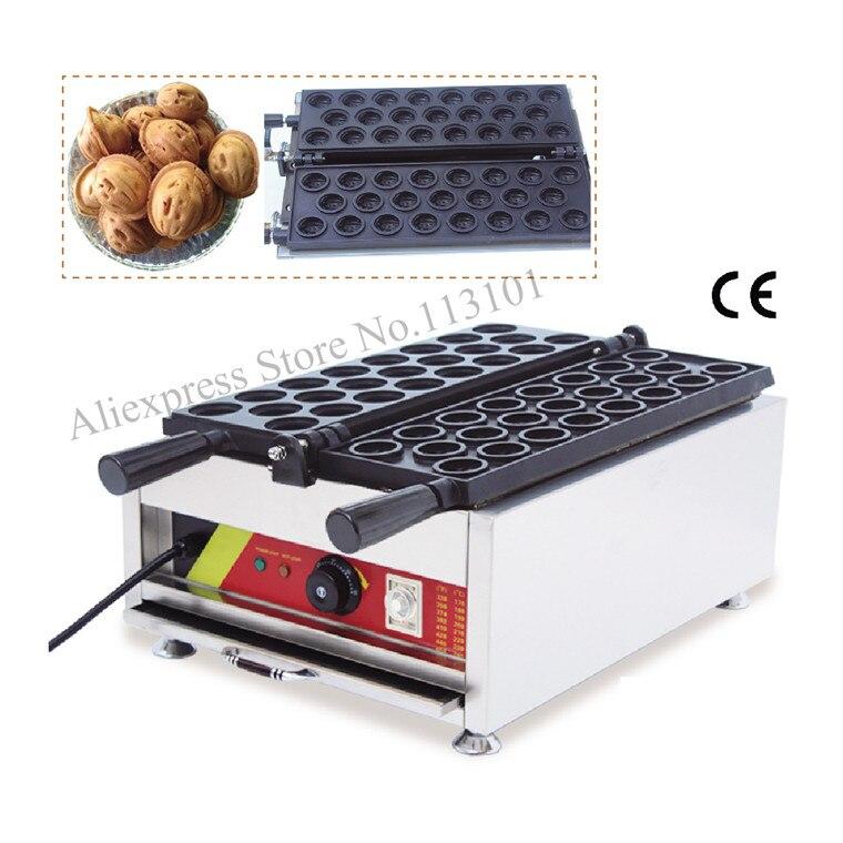 Electric walnut-shape waffle machine fun walnut type waffle maker non-stick cooking surface 23pcs walnut waffle moulds dali opticon 5 walnut