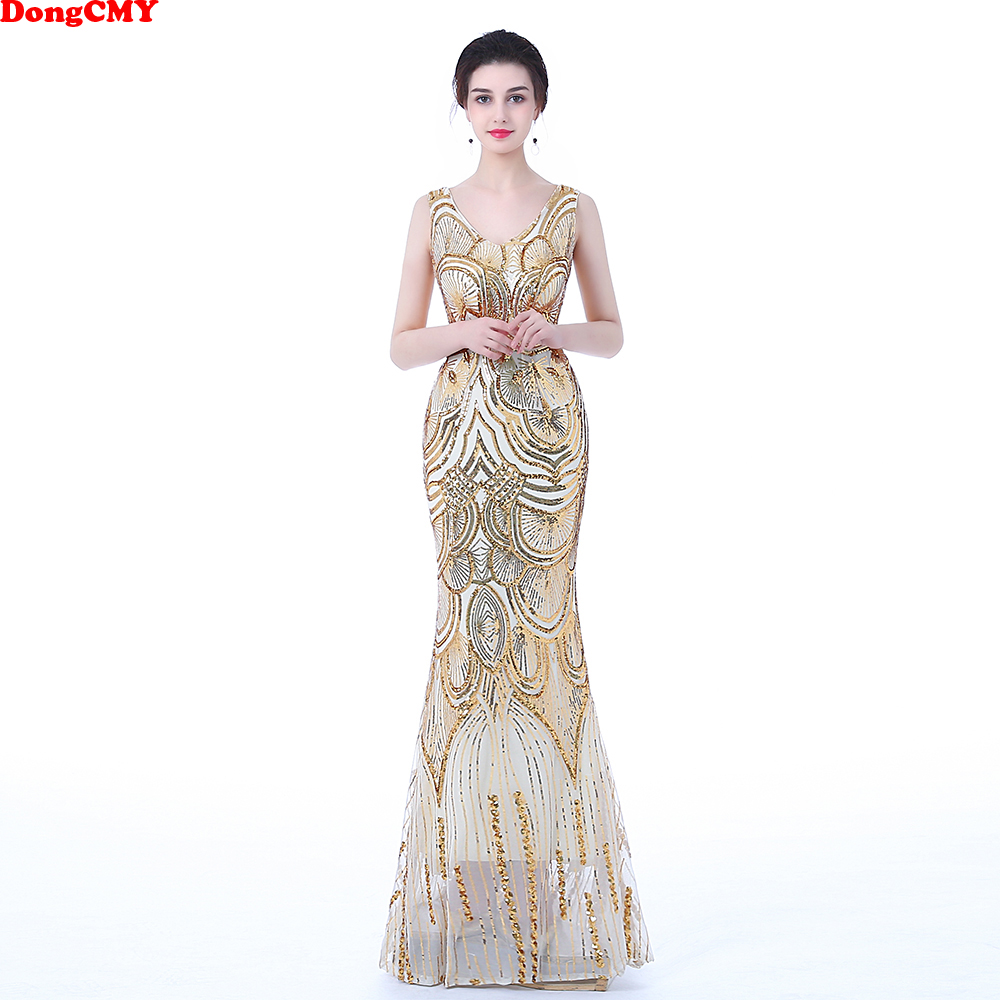 DongCMY WT1023 Prom Dress New 2019 Sexy Fashion Long Party Sexy Backless Women Gown