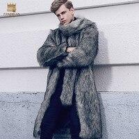 Free Shipping fanzhuan New 2017 fashion male Large fur collar men's fur coat winter trend fur jacket man warm plush coat 710132