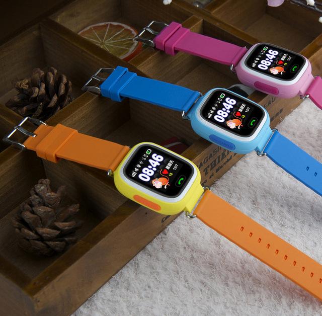 Gps posição q90 touch screen wi-fi smart watch crianças monitor de chamada sos localizador rastreador criança seguro anti perdido
