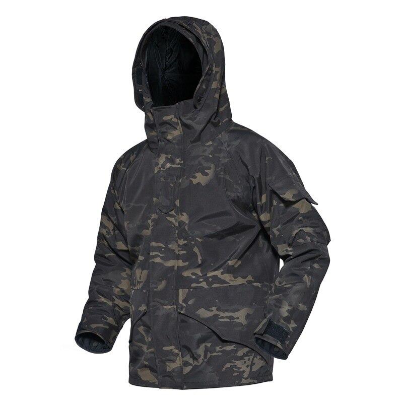 Мужская тактическая куртка с мягкой оболочкой, уличная зимняя куртка из двух предметов, пальто с капюшоном для альпинизма, водонепроницаем