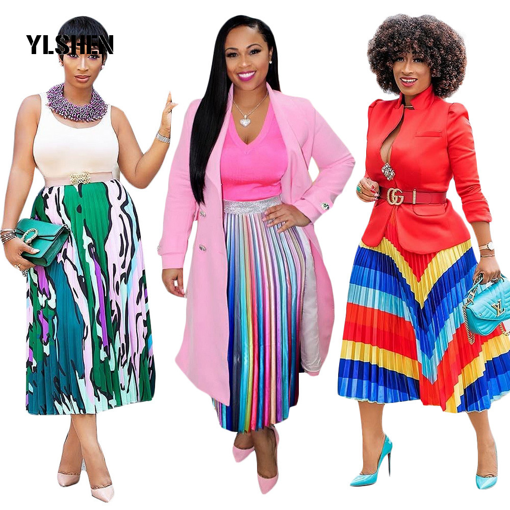 African Dresses Skirt For Women African Clothes Africa Print Dashiki Ladies Clothing Bazin Riche Dress Plus Size Robe Femme 2019