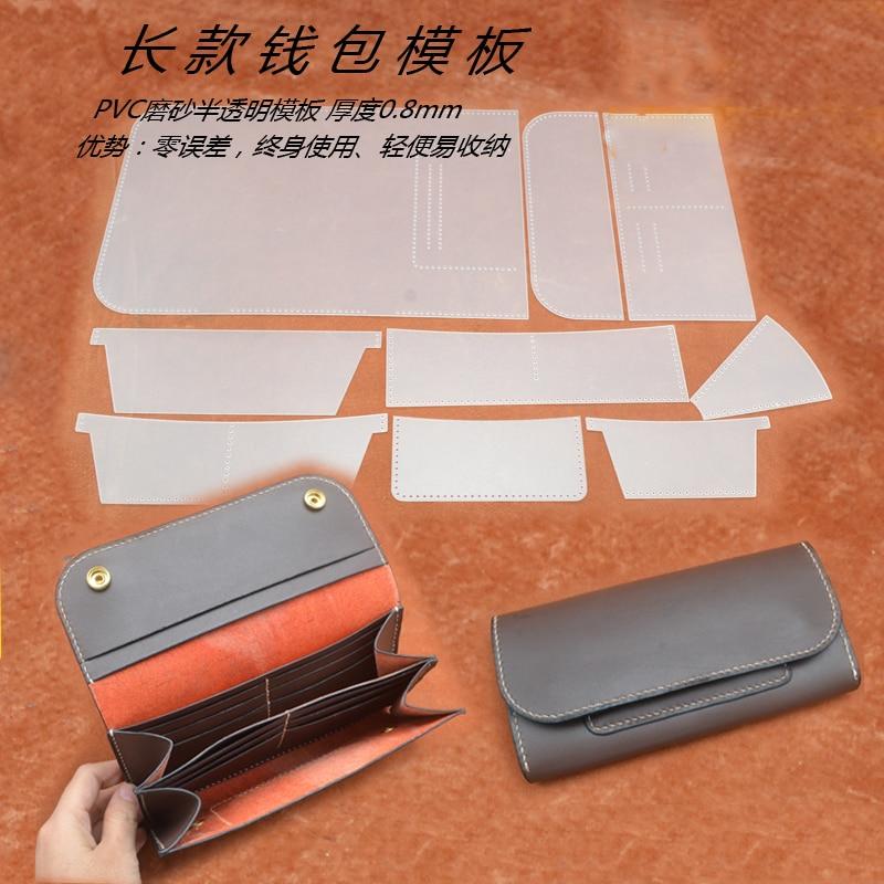 Leder handwerk frauen brieftasche langen form multi tasche pvc nähen ...