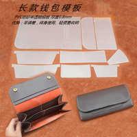 leather craft women wallet long shape multi pocket pvc sewing pattern cutting template set