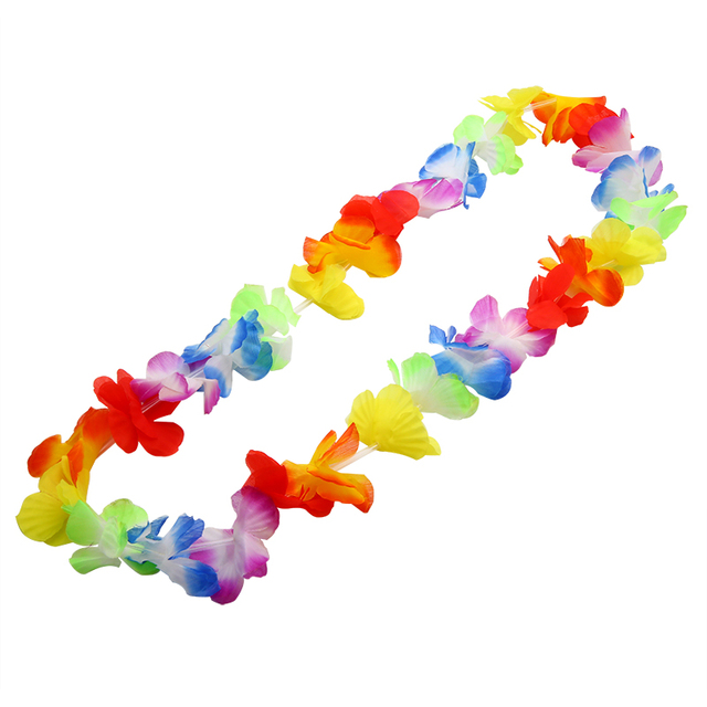 Mayitr 10PCS leis Garland Necklace Fancy Dress Party Hawaii Beach Fun Flowers Decor Party Beach Flower For Wedding Party Supplie
