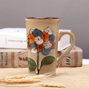 Image 3 - Handgeschilderde Keramische Cup Grote Mok Retro Koffie Servies Met Persoonlijkheid Paar Vol Creativiteit