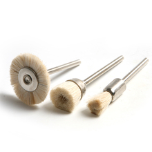 3 шт./лот, 3 мм хвостовик, абразивные инструменты Dremel, аксессуары, абразивная щетка для полировки, вращающиеся инструменты Dremel