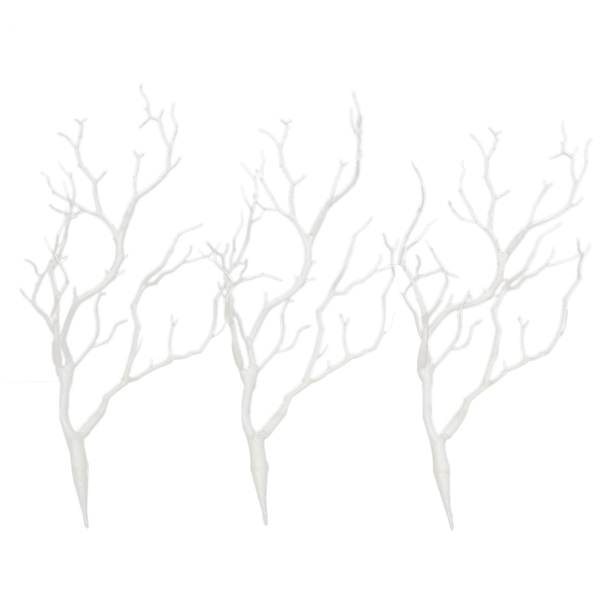 3 x Artificial White Dry Plant Tree Branch Wedding Party
